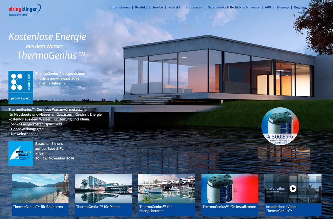 Für den Kunden ElringKlinger hat Lorenz & Company die Einführungskampagne des Wärmetauschers ThermoGenius realisiert.