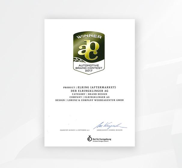 Beim Automotive Brand Contest ging der Sieg an die ElringKlinger AG.