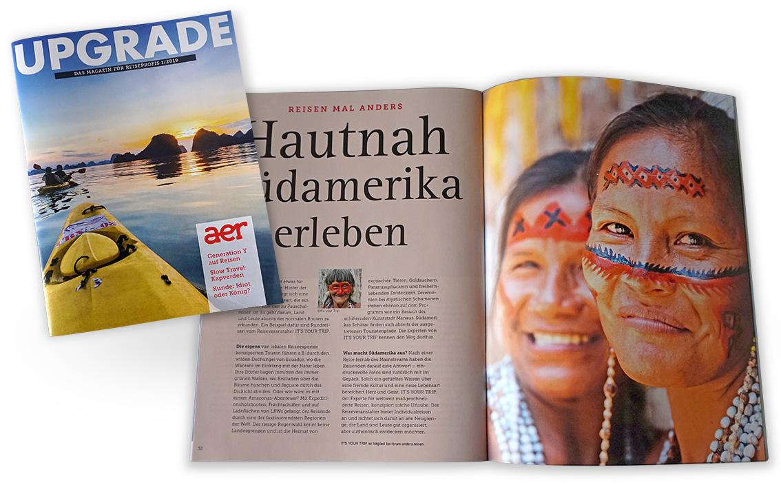Lorenz & Company entwickelte das Gestaltungs-Konzept des Reisemagazin UPGRADE.