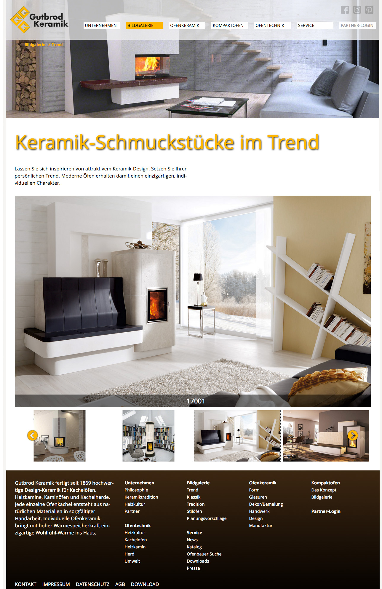 Die von Lorenz & Company für Gutbrod erstellte Webseite ist ein Blickfang.