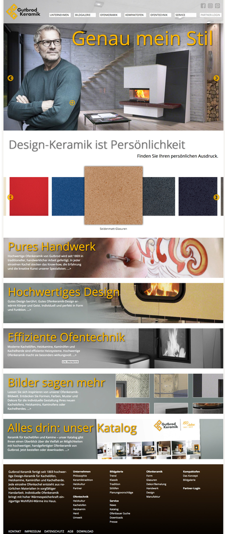 Für Gutbrod hat Lorenz & Company eine neue Website realisiert.