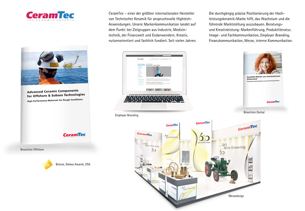 Unsere Markenkommunikation bringt die Botschaft von CeramTec auf den Punkt.
