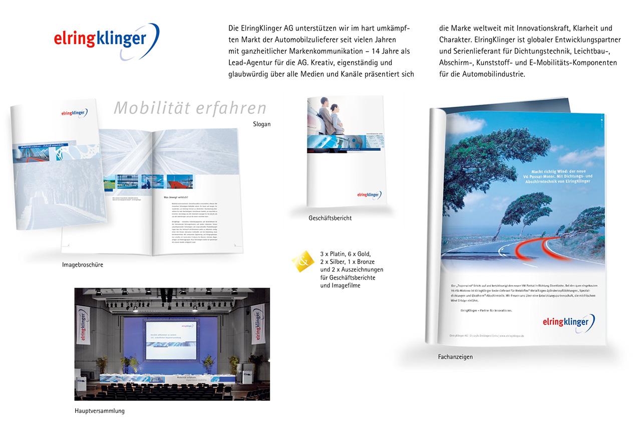 Die ElringKlinger AG unterstützen wir mit ganzheitlicher Markenkommunikation.