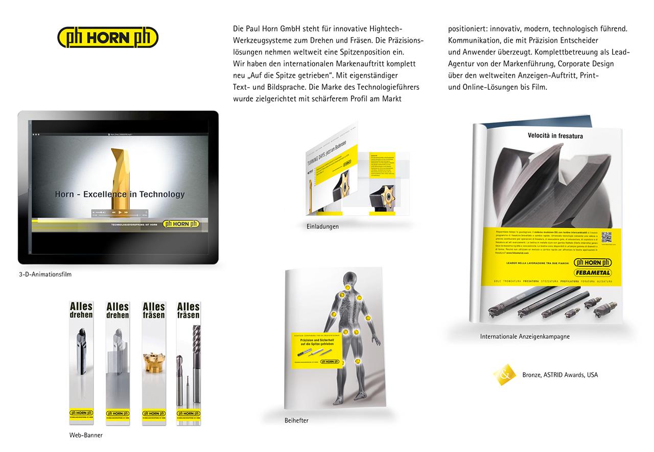 Den Markenauftritt der Paul Horn GmbH haben wir komplett überarbeitet.